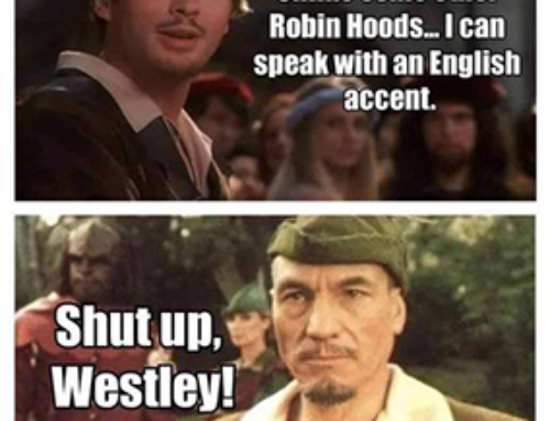 Robin Hood with an English accent