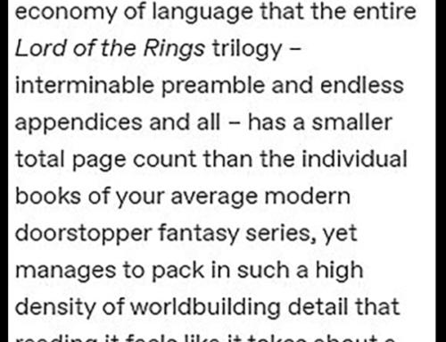Tolkien's economy of language