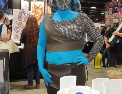 Aayla Secua checks us out at the booth